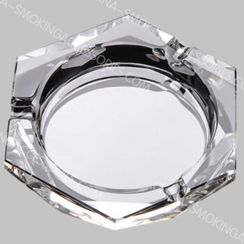Crystal Cigarette Ash tray Diamond Cut Glass Custom Logo For Indoors and Outdoors AS549-01
