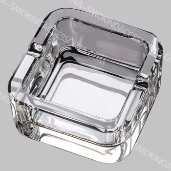 Custom Crystal Ashtray Glass Small Crystal Cigarette Ashtray for Indoors and Outdoors AS532-01