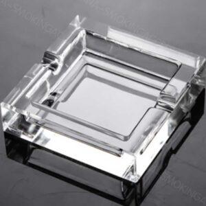 Square crystal glass Ashtray smoking 9CM Straight square AS552