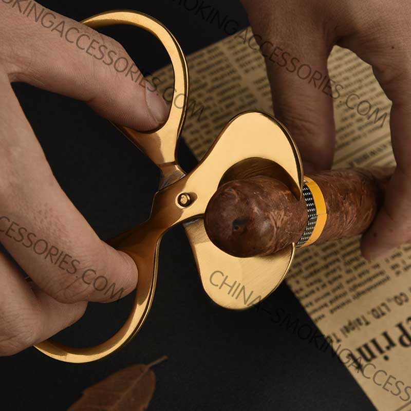 Cigar Scissors Bouble blade cigar cutter Stainless Steel Guillotine Double Blade Straight Cut Scissors CS120