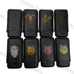 Leather Cigar Case Bag Customizable logo KR1020