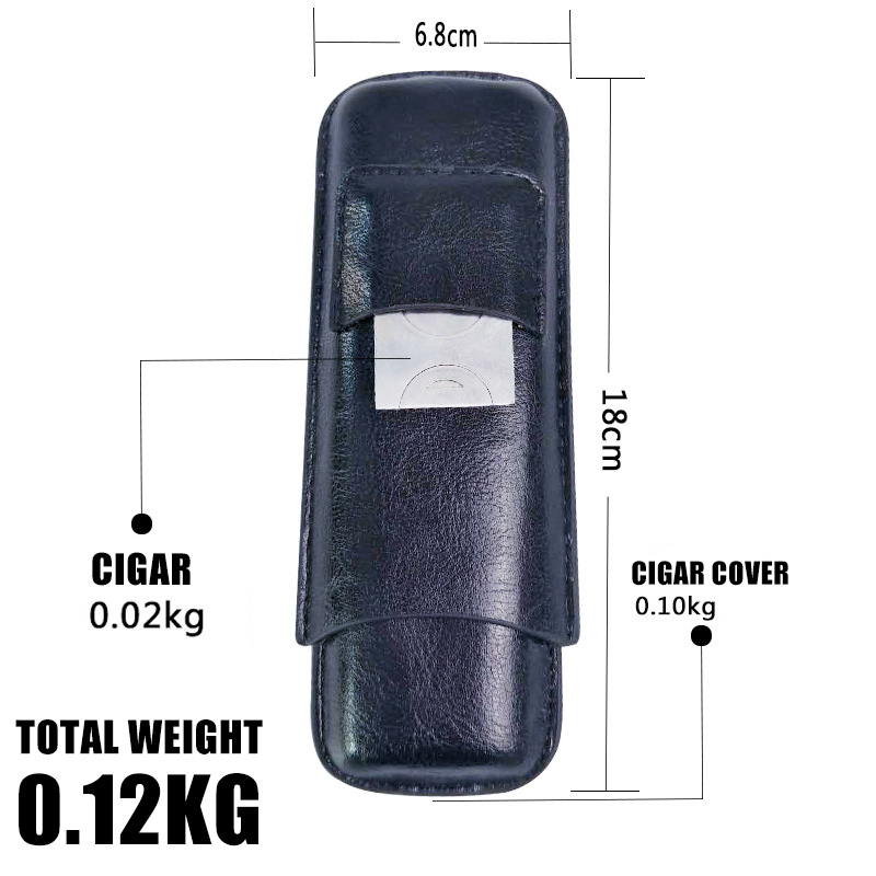Cigar Case Set with Cigar Cutter Pocket KR1003