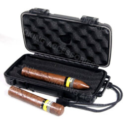 hard plastic cigar case customized for 2 4 cigar KV5002