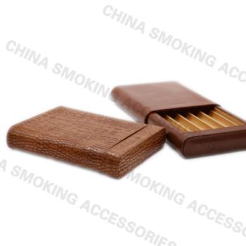 Antique Leather Cigar Case Boxes
