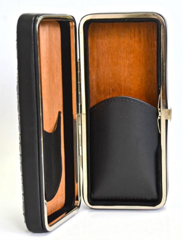Leather Cigar Case Humidor KV7010