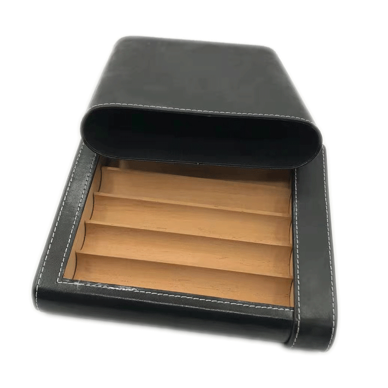Antique Leather Cigar Case Boxes KV7010
