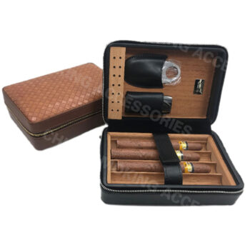 custom leather cigar accessory case KV7002