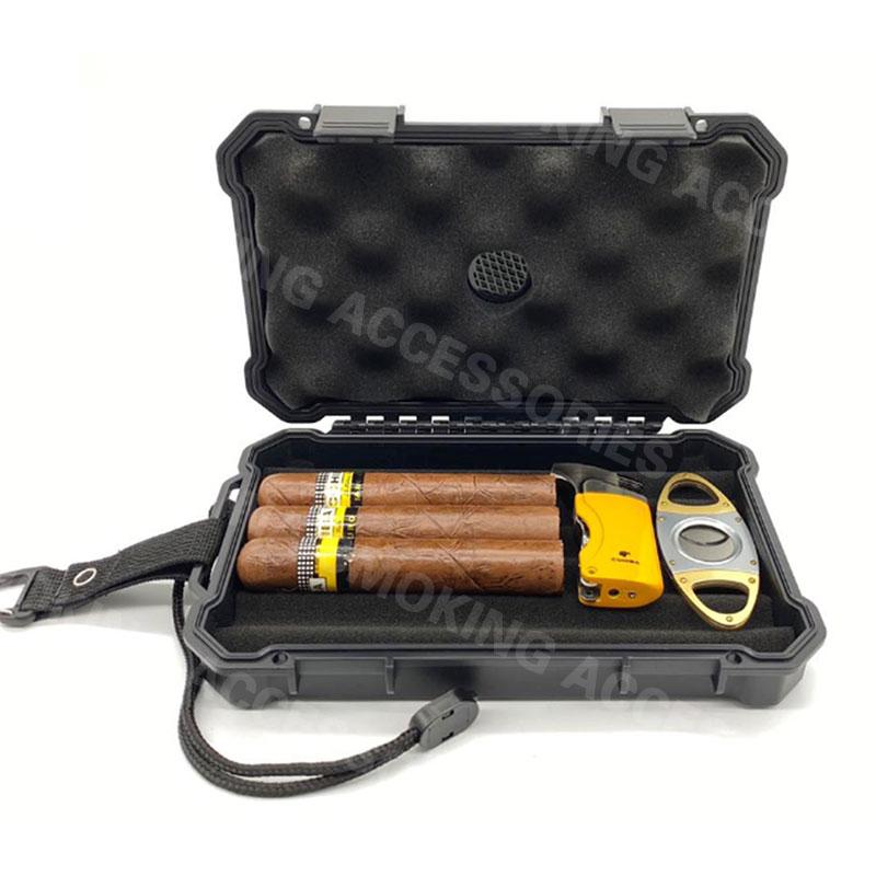 Custom Cigar Plastic Travel Humidor Case KV5001
