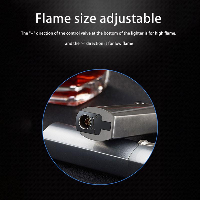 Flame size adjustable