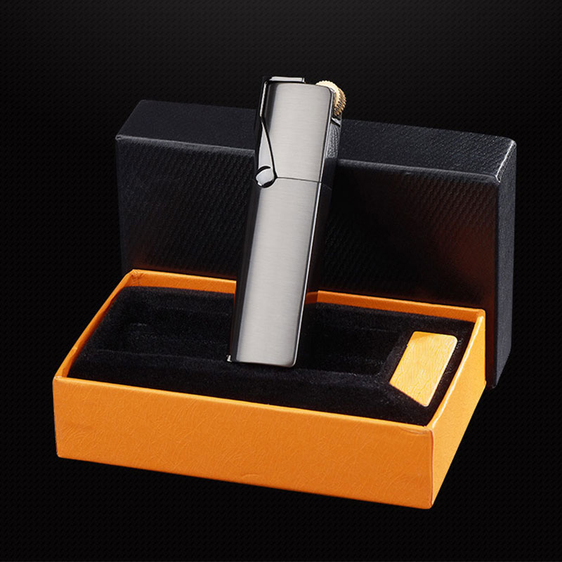 elegant torch flame lighter with gift box