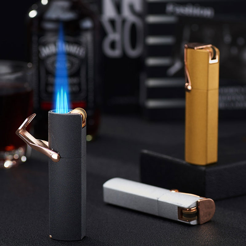 Triple flint torch jet flame Cigar lighter with built in punch cutter LCBP-3054