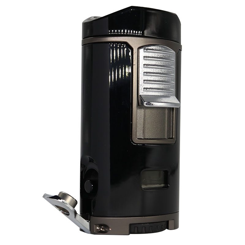 New Cigar Lighter all in one with punch holder Quad Jet Flame 3 in One L003