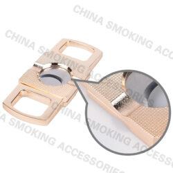 Cigar Cutter Holder Kit cigar cutter engraved Double Blade Cut C006