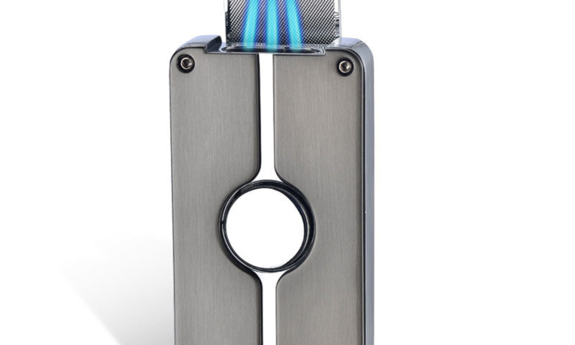 triple jet flame lighter with punch tool