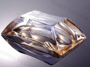 Clear Glass Cigar Ashtray Gold edge Custom Logo AS520