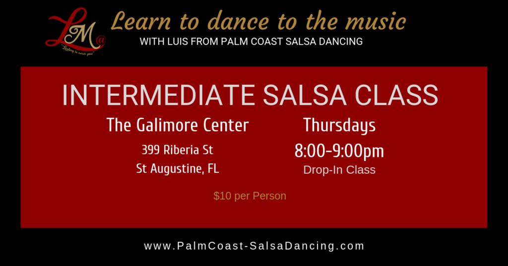 Intermediate Salsa Class St Augustine