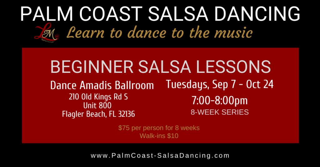 Beginner Salsa Lessons - 8-week series - Sep 7, 2021