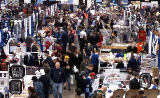 2013-NHL-Fall-Expo-Upper-Deck-Entire-View-Show-Floor-Double-Rookie-Class-NHL