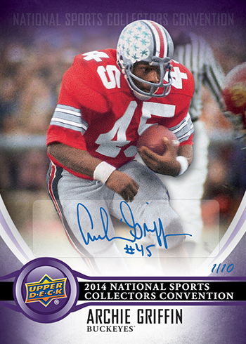 2014-Upper-Deck-National-Sports-Collectors-Convention-Wrapper-Redemption-Autograph-Archie-Griffin