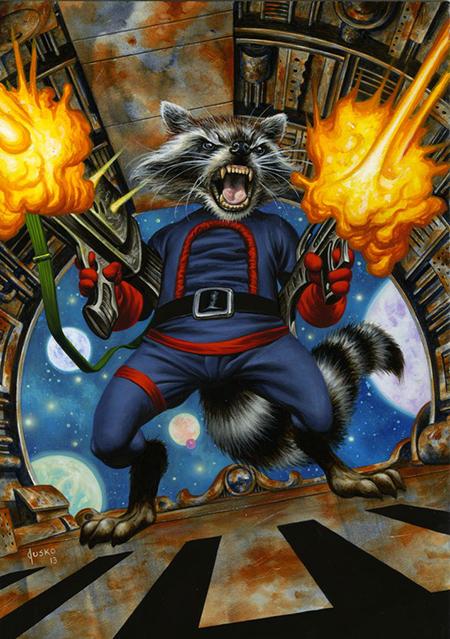 Joe-Jusko-Marvel-Masterpiece-Artist-Spotlight-Upper-Deck-Rocket-Raccoon