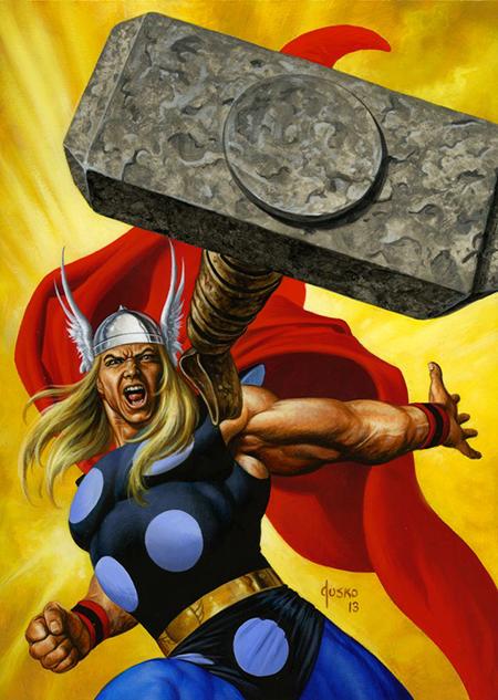 Joe-Jusko-Marvel-Masterpiece-Artist-Spotlight-Upper-Deck-Thor