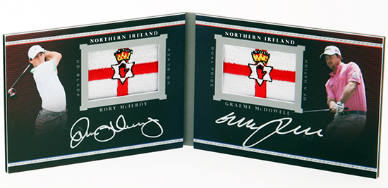 Rory-McIlroy-2014-Exquisite-Golf-Upper-Deck-Black-Flag-Autographs-Northern-Ireland-McIlroy-McDowell