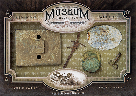 2014-Upper-Deck-Goodwin-Champions-Museum-Collection-World-War-I-WWI-Artifacts-Meuse-Argonne-Offensive