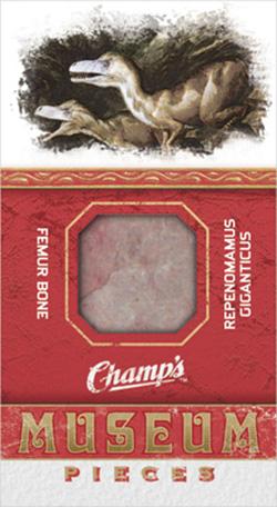 2009-10-Upper-Deck-Champs-NHL-Fossil-Femur-Repenomamus-gigantcus