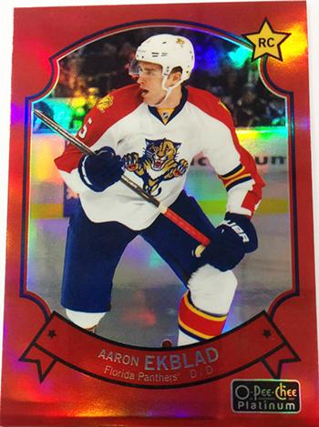 2014-15-NHL-O-Pee-Chee-Platinum-Parallel-Red-Aaron-Ekblad