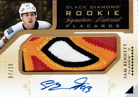 2015-16-Upper-Deck-NHL-Black-Diamond-Top-Best-Rookie-Card-Sam-Bennett-Autograph-Patch