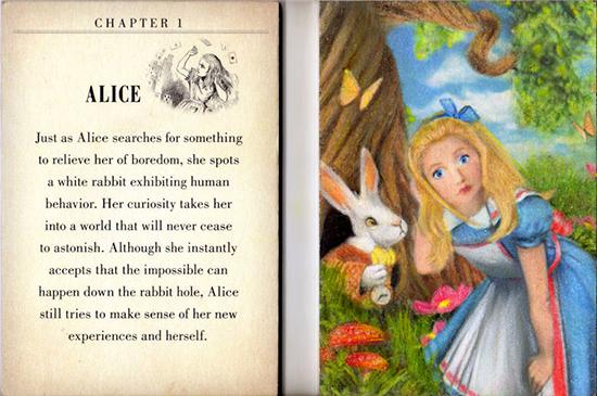 2016-Goodwin-Champions-Artist-Painted-Sketch-Alice-in-Wonderland-Looking-Glass-Upper-Deck