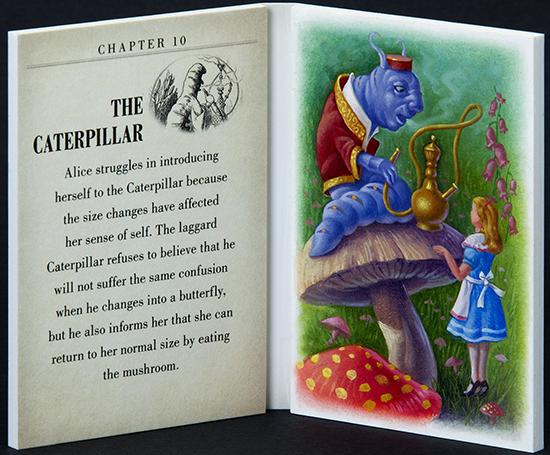 2016-Upper-Deck-Goodwin-Champions-Alice-in-Wonderland-Artist-Sketch-Booklet-Card-LIVE-The-Caterpillar