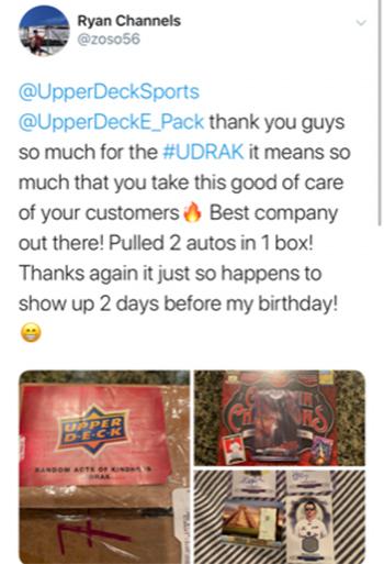 upper deck random acts kindness udrak package