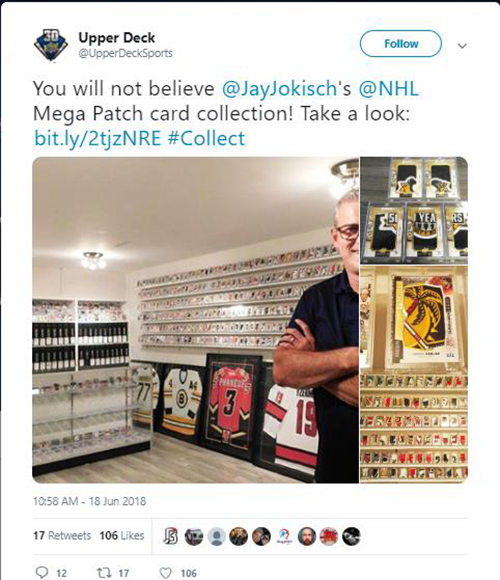 jay jokisch premier upper deck mega patch collection display