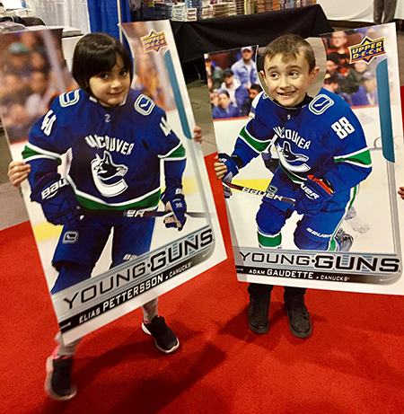 upper deck kids trading card funny collect hockey nhl