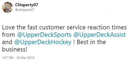 upper deck customer care service engagement fan collector support