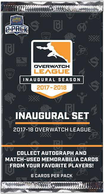 2019 upper deck overwatch league pack