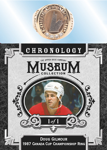 doug gilmour canada cup championship ring upper deck chronology