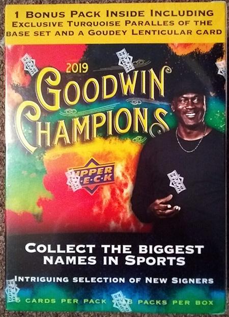 2019 goodwin champions upper deck walmart trading card section