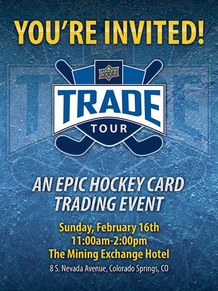 upper deck trade tour hockey card show
