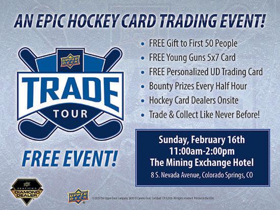 upper deck hockey card trade tour event show