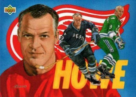 upper deck gordie howe heroes of hockey