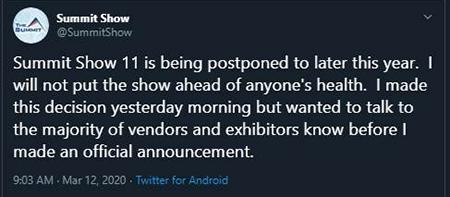 summit show cancellation