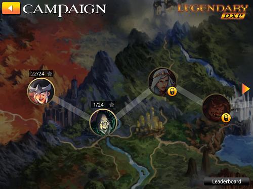 Legendary DXP Campaign Screen
