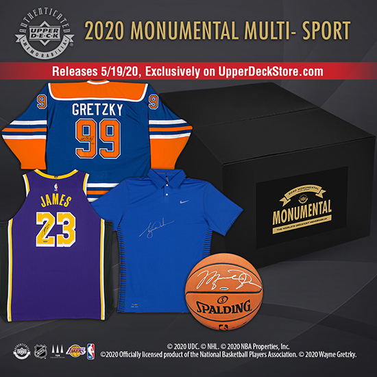 2020 upper deck authenticated monumental multi sport uda store exclusive