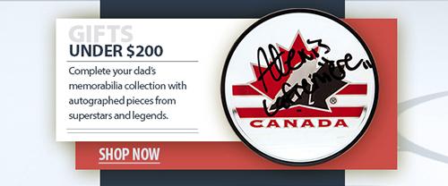 2020 father's day hockey memorabilia under $200