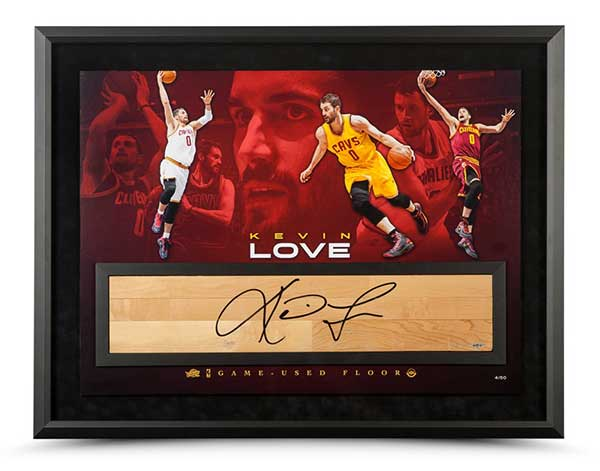 """Kevin Love Autographed 36"""" x 24"""" Power Forward w/Game-Used Floor"""