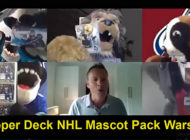 NHL Mascots Have Fun Playing Pack Wars with Upper Deck!