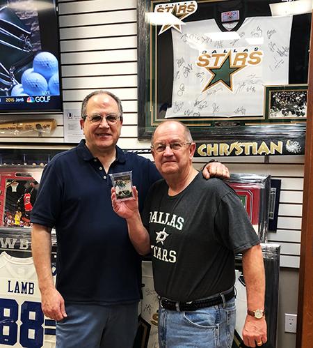upper deck nick's sports cards memorabilia dallas stars texas hobby shop certified diamond dealer ron firestone
