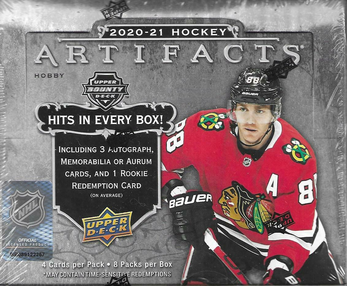 upper deck artifacts 2020-21 nhl hobby box hockey cards collectibles